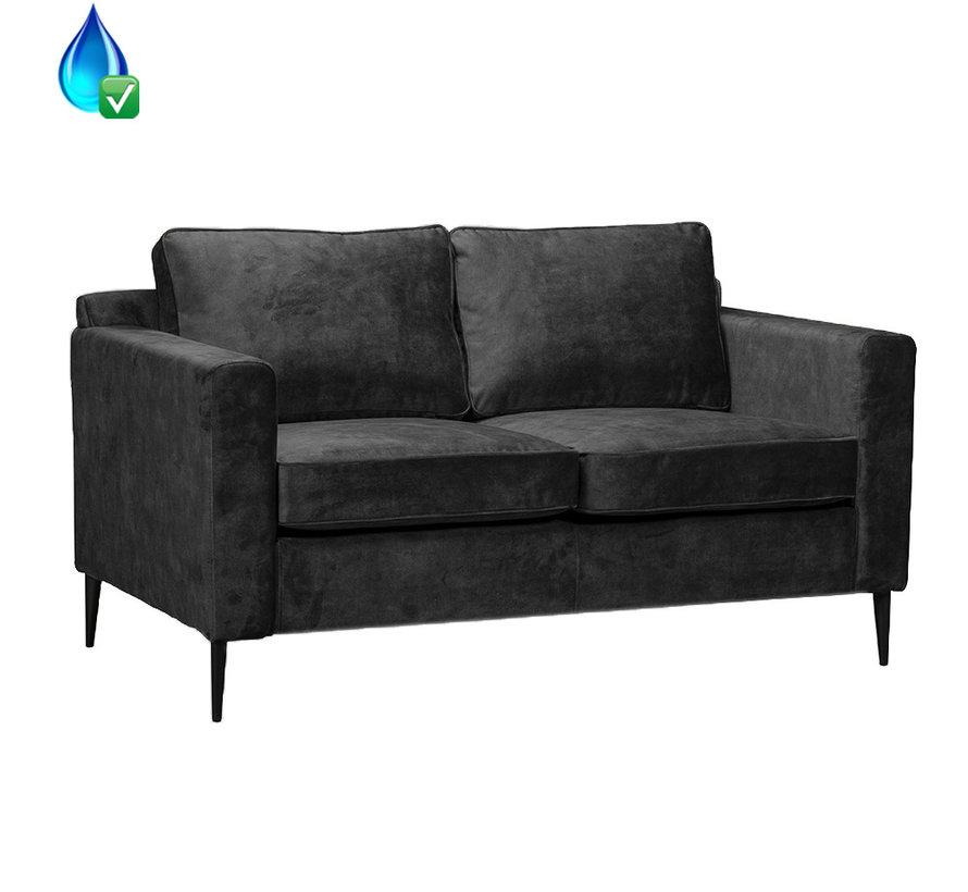 Samt Sofa 2-Sitzer Florida anthrazit