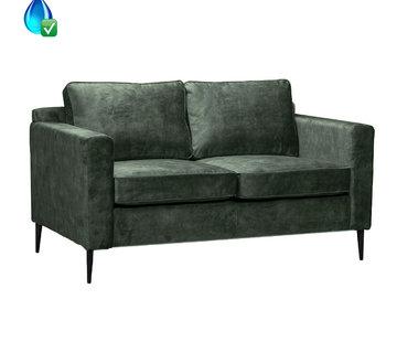 Bronx71 Samt Sofa 2-Sitzer Florida dunkelgrün
