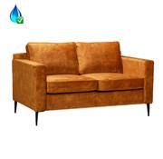 Bronx71 Samt Sofa 2-Sitzer Florida ockergelb/cognac