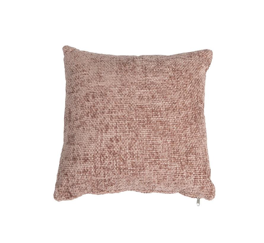 Kissen Feline Chenille Stoff rosa 45x45 cm