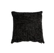 Kissen Feline Chenille Stoff schwarz 45x45 cm