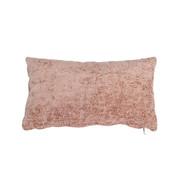 Kissen Juna Chenille Stoff rosa 25x45 cm