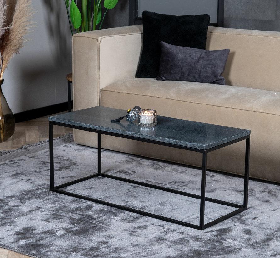 Loungetisch Roxy Marmor 94 x 38 cm schwarz