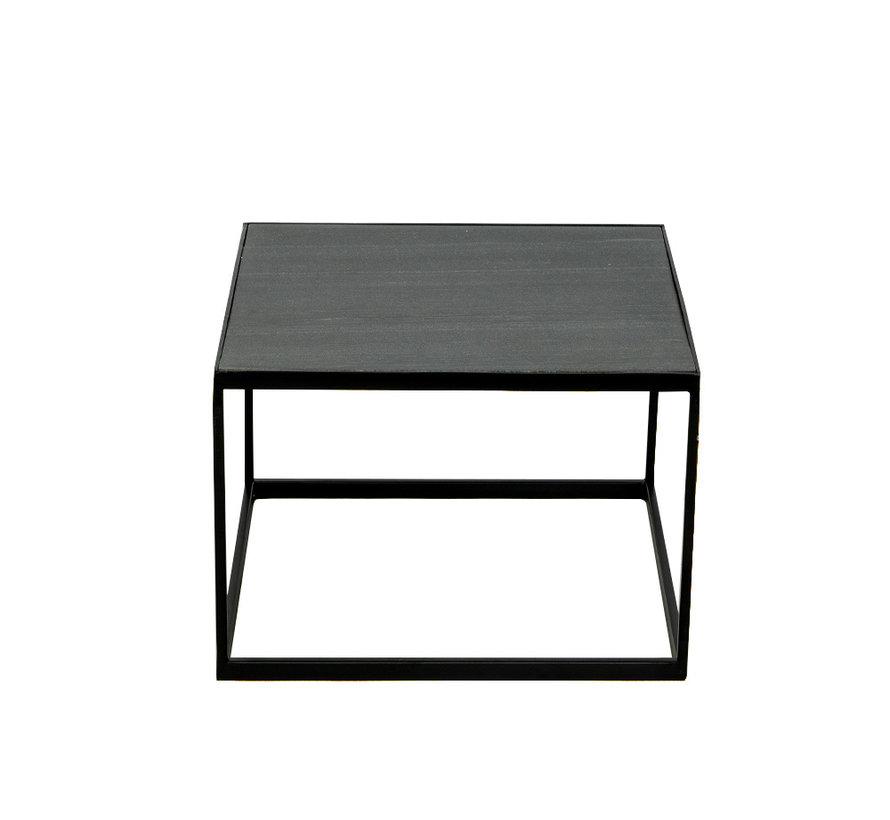 Loungetisch Max Marmor 54 x 54 cm schwarz