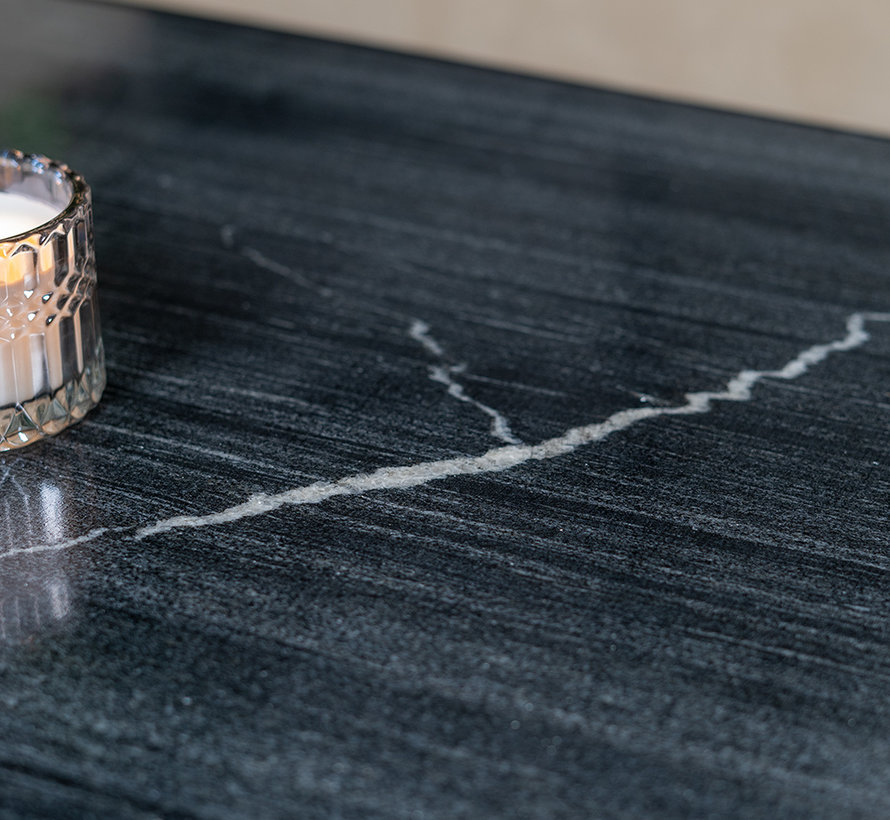 Loungetisch Rico Marmor 70 x 70 cm schwarz