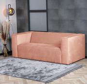 Bronx71 Samt Sofa Memphis 2,5-Sitzer rosa