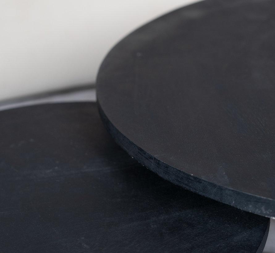 Loungetisch Caro Mangoholz Set schwarz