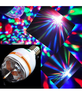 Roterende Discolamp Sound Acitvated - LED - RGB - E27 fitting