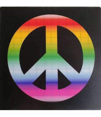 LED T-shirt Equalizer Zwart - Peace
