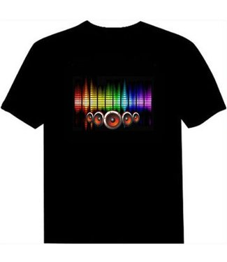 LED T-shirt Equalizer - Zwart - Beatbox