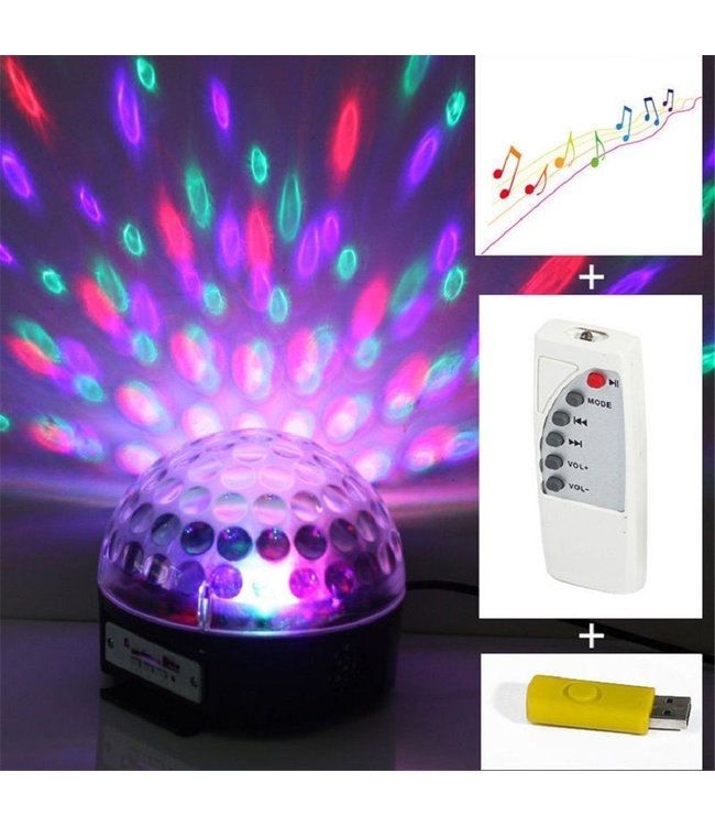 LED Discolamp Magic Jelly - DJ Ball  - USB/SD Kaart