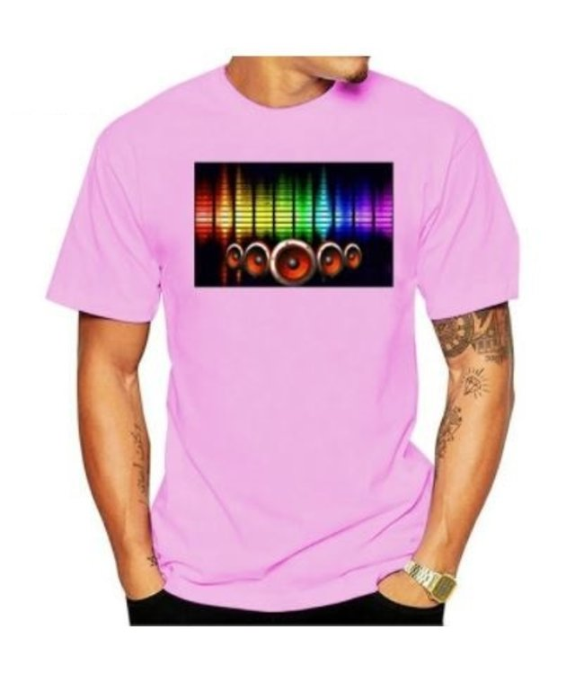 LED T-shirt Equalizer - Roze - Beatbox