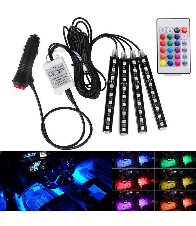 LED Auto interieur Verlichting - RGB - Met Afstandbediening