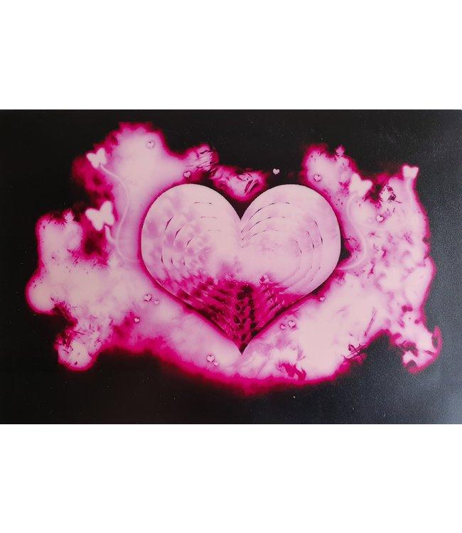 LED T-shirt Equalizer - Wit - Heart