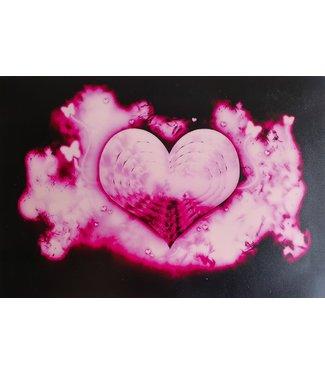 LED T-shirt Equalizer - Roze - Heart