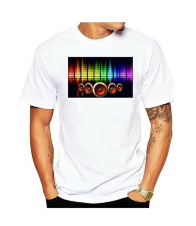 LED T-shirt Equalizer - Wit - Beatbox