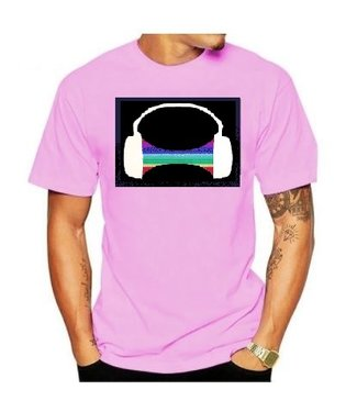 LED T-shirt Equalizer - Roze - Headphone