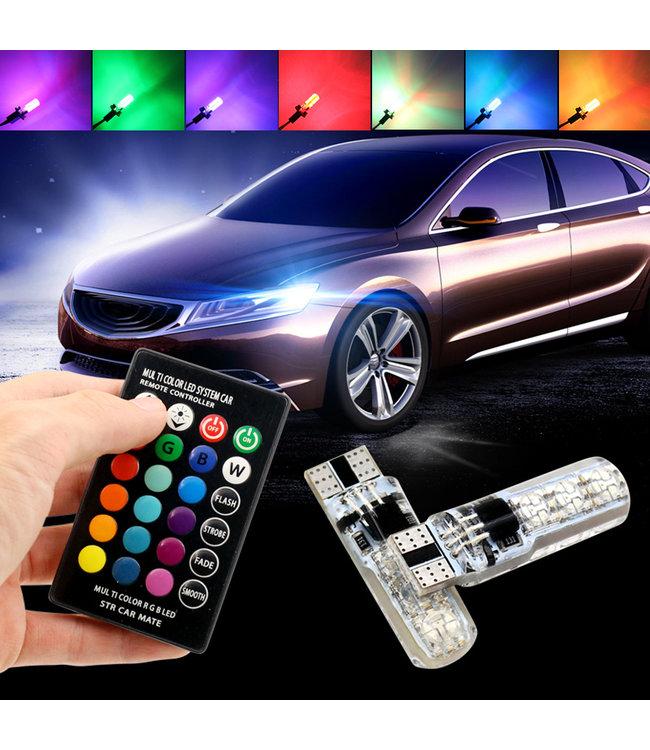 LED Autoverlichting Set - T10 - RGB