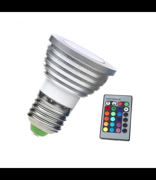 LED Spot RGB - 3 Watt - E27