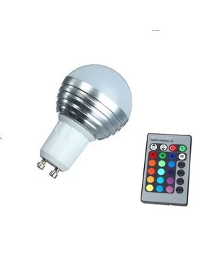 LED Bollamp RGB - 3 Watt - GU10