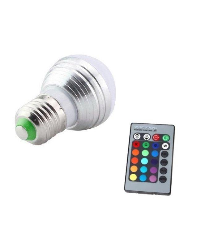 LED Bollamp RGB - 3 Watt - E27
