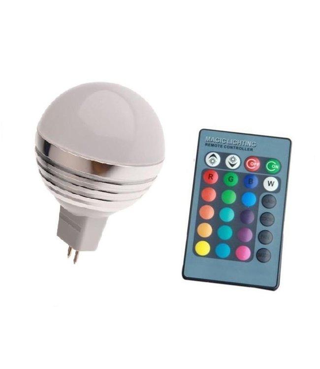LED Bollamp RGB - 3 Watt - MR16