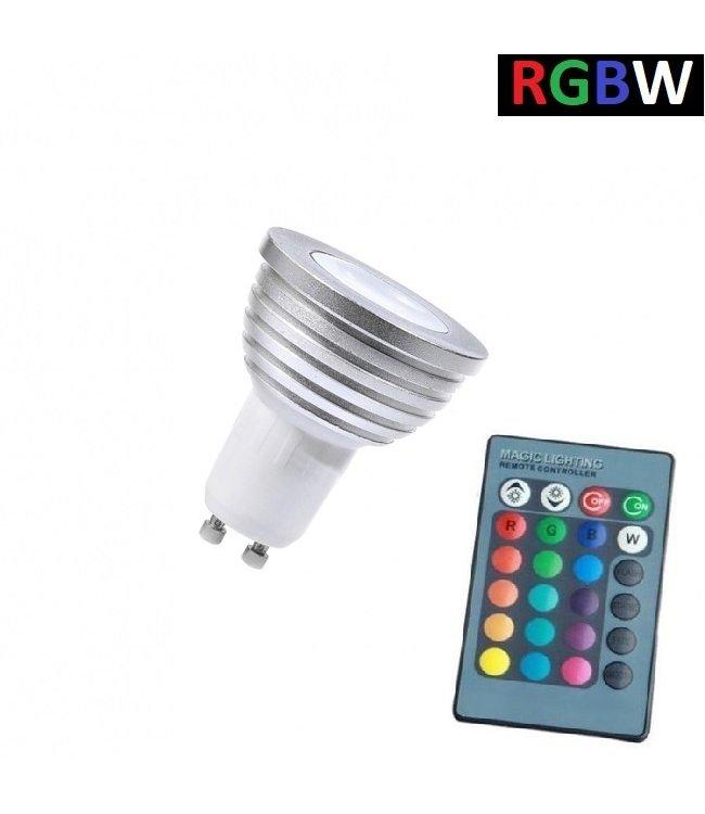 LED Spot RGB + Koel Wit - 5 Watt - GU10