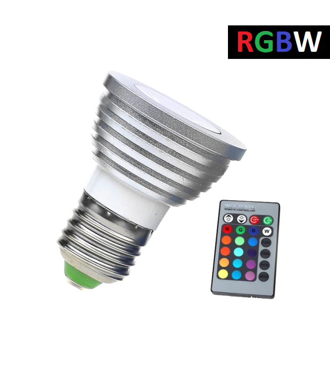 LED Spot RGB + Koel Wit - 5 Watt - E27