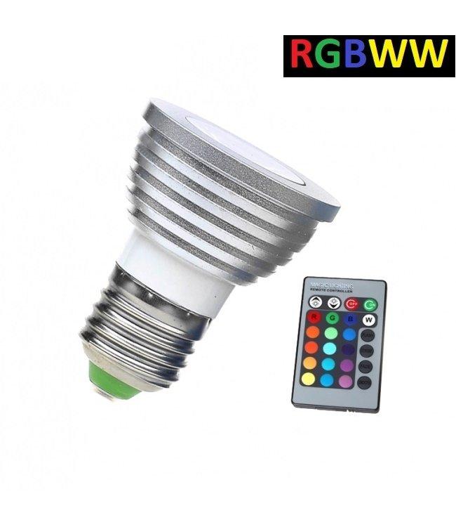 LED Spot RGB + Warm Wit - 5 Watt - E27