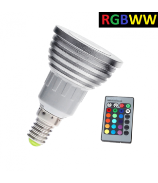 LED Spot RGB + Warm Wit - 5 Watt - E14