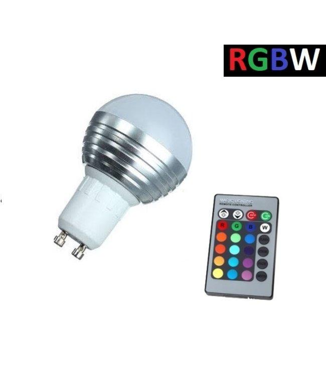 LED Bollamp RGB + Koel Wit - 5 Watt - GU10
