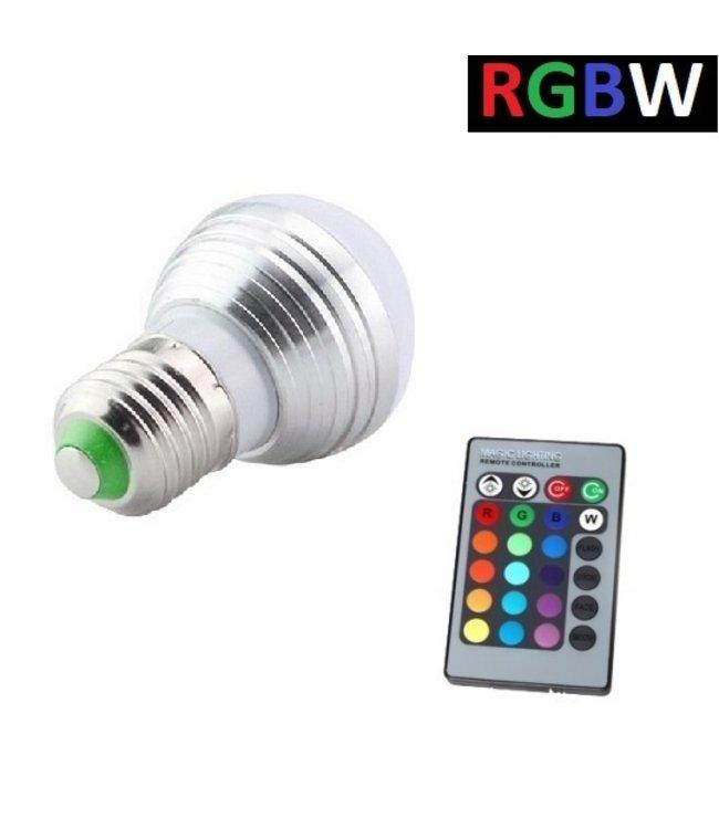 LED Bollamp RGB + Koel Wit - 5 Watt - E27