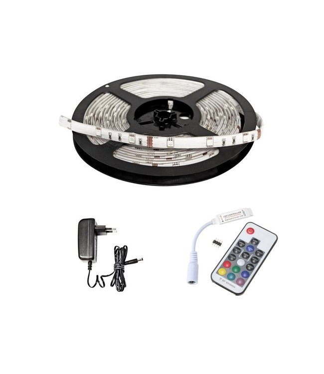 LED Strip RGB - 30 LEDS Per Meter - Waterdicht - Met afstandbediening