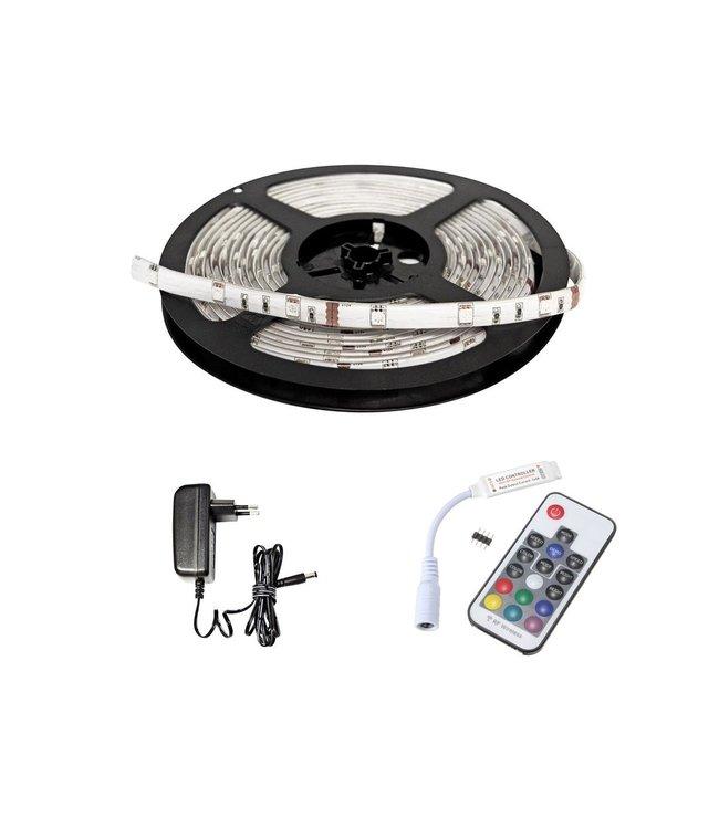 LED Strip RGB - 30 LEDS Per Meter - Niet Waterdicht  - Met Afstandbediening