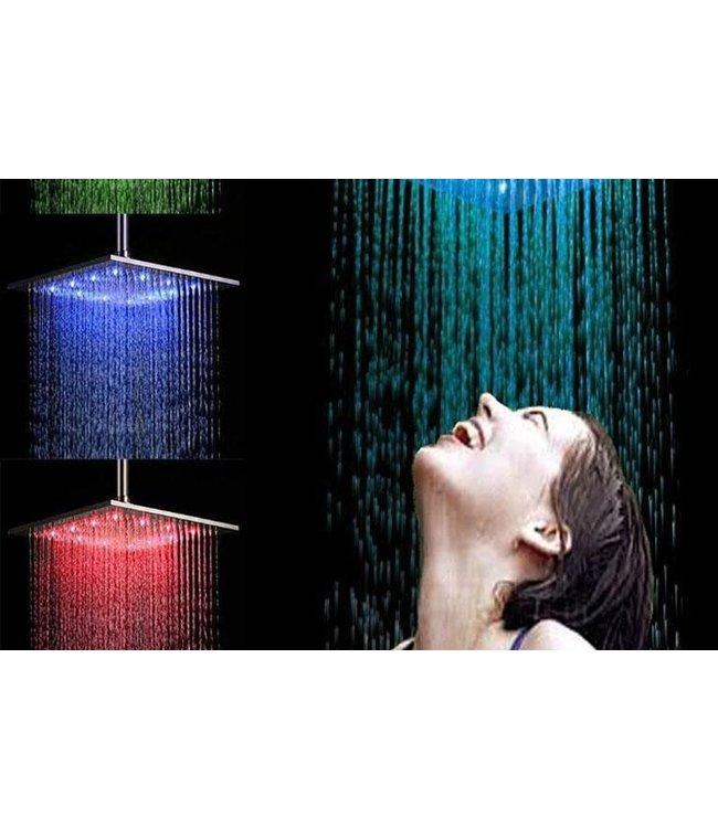 LED Douchekop Groot - RGB - Vierkant