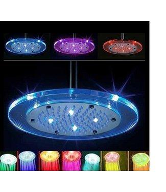 LED Douchekop Groot - Regenboog - Rond