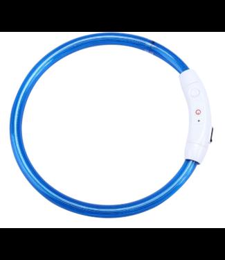 LED Hondenhalsband USB - Blauw
