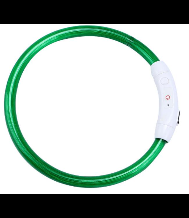 LED Hondenhalsband USB - Groen