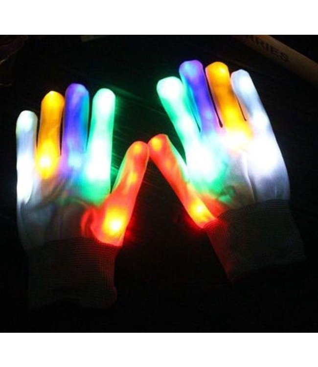 LED Handschoenen - Wit
