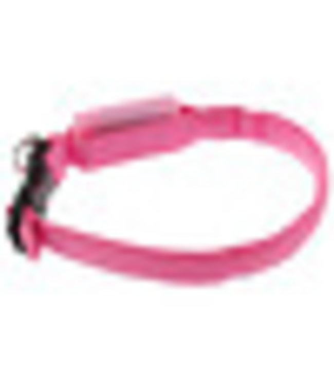 LED Hondenhalsband - Mini - Roze