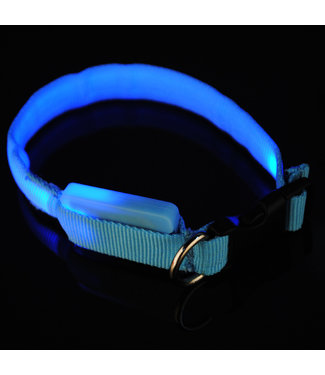 LED Hondenhalsband - Mini - Blauw