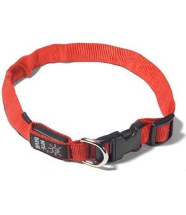 LED Hondenhalsband - Mini - Rood