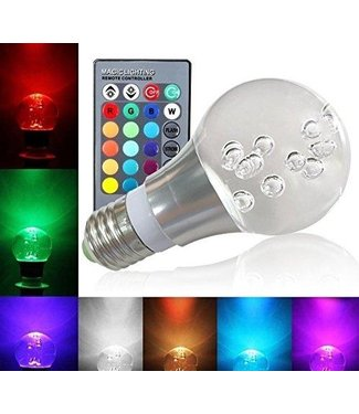 LED Kristal Bollamp RGB - 3 Watt - E27