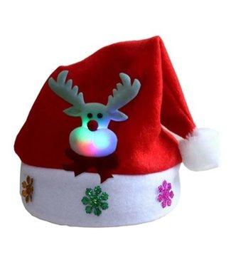 Lichtgevende Kerstmuts Rendier - Kids