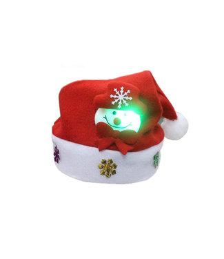 Lichtgevende Kerstmuts Sneeuwpop - Kids