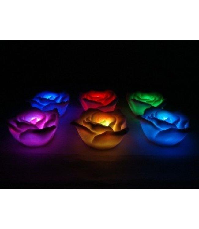 LED Kaars RGB  - Roos