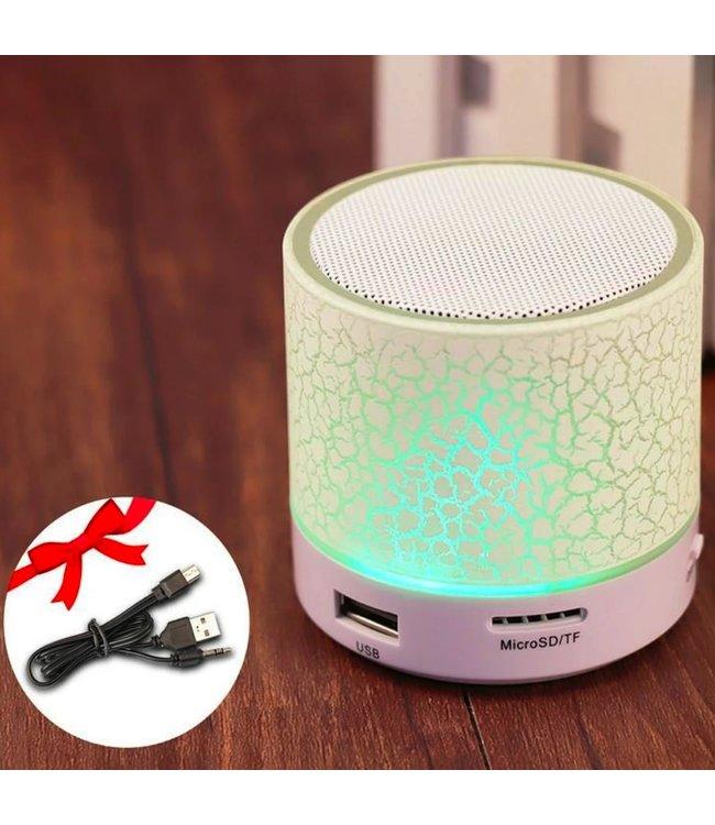 Bluetooth Speaker Mini - LED - Wit