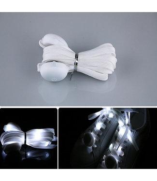 Lichtgevende  Nylon Veters - LED - Wit