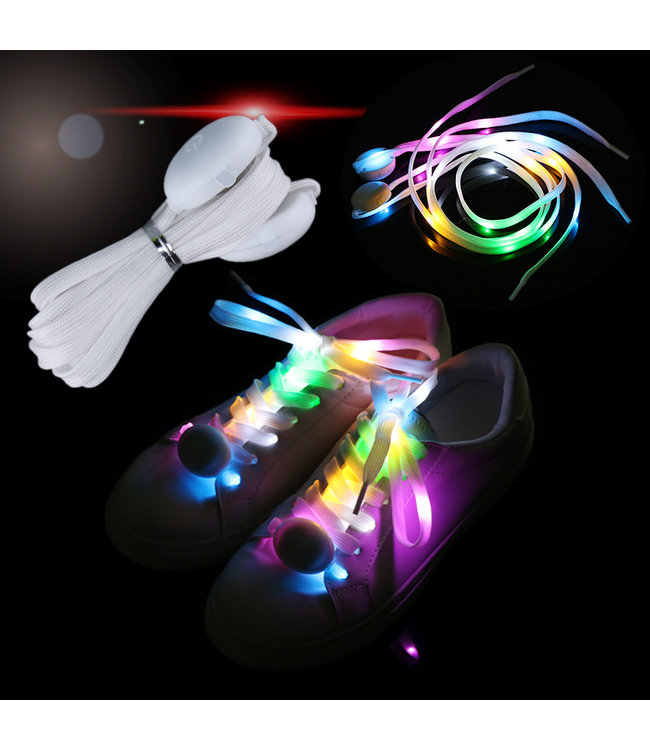Lichtgevende  Nylon Veters - LED - RGB