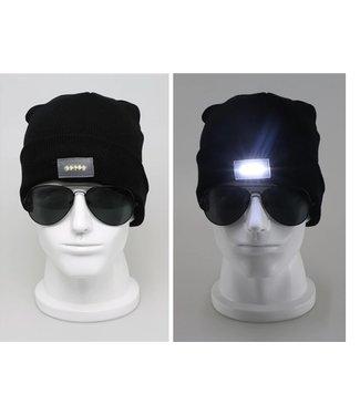 Lichtgevende Muts - LED - Zwart